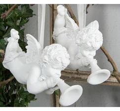 Hängande ängel med trumpet