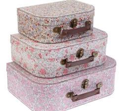 Resväskor blommor