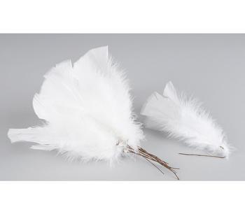 Påskfjädrar vit