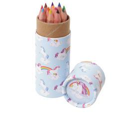 Färgpennor i söt förpackning enhörning