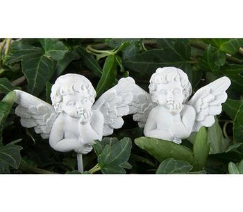 Ängel blomsticka vit