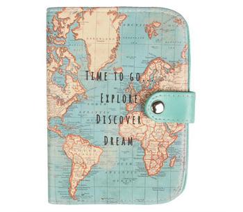Passfodral  världskarta