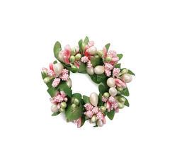 Ljusmanschett vit och rosa