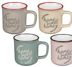 """Kaffemugg i porslin """"Home Sweet Home"""""""
