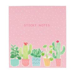 "Post it set med kaktus ""Sticky notes"""