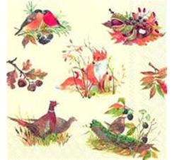 "Servetter  ""Autumn Wildlife"" skogens djur"