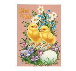 Påskkort kycklingar