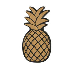 Nagelfil guld ananas