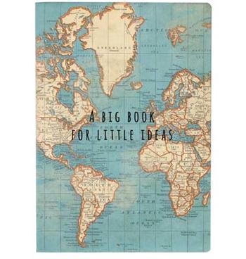 Anteckningsblock världskarta