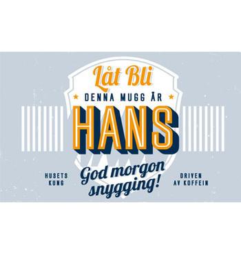 Personlig mugg Hans
