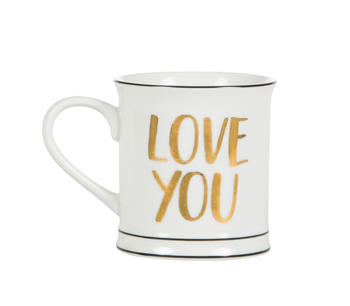 "Kaffemugg i porslin ""Love you"""