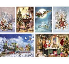 "Kalenderkort med kuvert ""tomtar"""