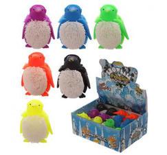 Fluffig mjuk blinkande pingvin
