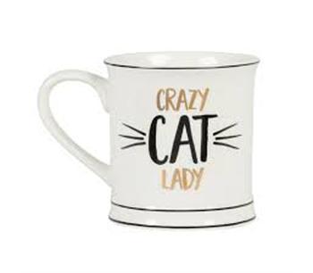 """Kaffemugg i porslin """"Crazy CAT Lady"""""""