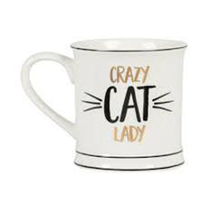 "Kaffemugg i porslin ""Crazy CAT Lady"""