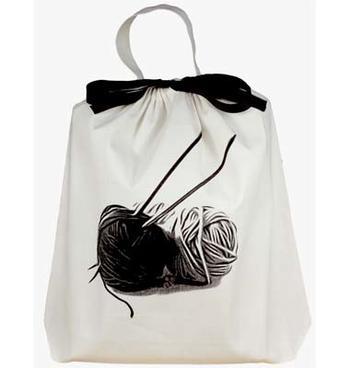 Bag-all tygpåse stickning