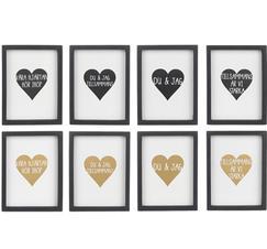 Tavlor med text och hjärta
