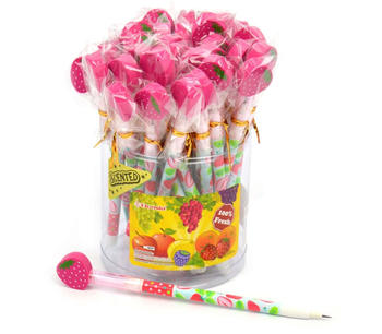 Doftpennor med jordgubbsdoft och sudd blyerts