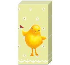 Pappersnäsdukar kyckling påsk