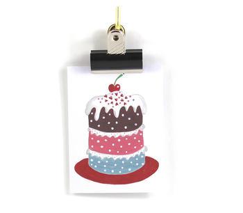 Litet Miljövänligt kort – Tårtan