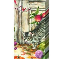 Pappersnäsdukar katt