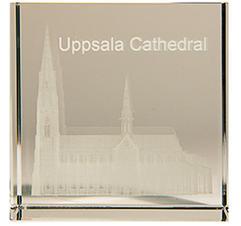 3D Glaskub Uppsala Domkyrka
