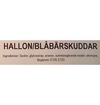 Hallon / blåbärskuddar