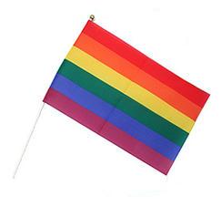 Handflagga Regnbåge