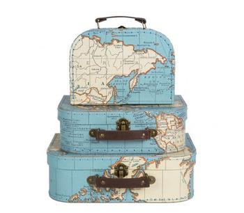 Resväskor världskarta